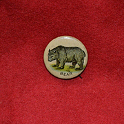 Pepsin Gum, Wild Bear, Celluloid Pin Back Button