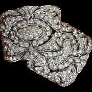 Ornate Rhinestone Shoe Buckle Clips, Deco Era #1