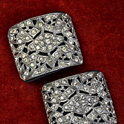 Antique Rhinestone Shoe Buckles or Clips, #2