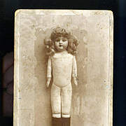c.1895 Photo of Doll, Giveaway for Christmas or Birthday, Non-Such Mincemeat Advertisment