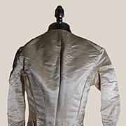 Victorian Cream Satin Bodice, Fabric Exc. Condition, Doll Costuming