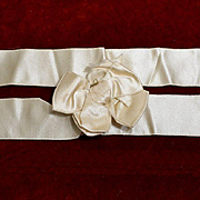 Victorian Cream Satin Bow (D) Excellent for Doll Clothing, Hats JS