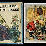 c. 1926 Kiddies Fairy Tales Book, Christmas/Santa, Rabbit, 3 Bears, 8 Color Illustrations by C.M. Burd