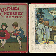 1926 Kiddies Nursery Rhymes Book, 8 Color Illus. by C.M. Burd