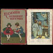 1926 Kiddies Nursery Rhymes Book, 8 Color Illus. by C.M. Burd