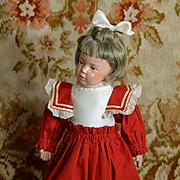 Red Mariner Style High Waist Dress Fits Slender Bisque, Schoenhut, HP