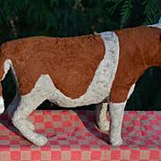 c.1920's Straw Stuffed Cow or Bull