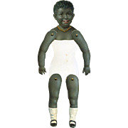 Antique Die Cut Articulated Paper Doll, Smiling Black Child  #219