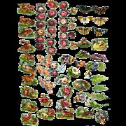 Tiny Victorian Die Cuts, Roses, Cherub, Deer, Butterflies  #227