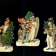 Christmas Angels and Elves Victorian Die Cuts  #238
