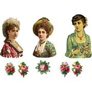 Lovely Ladies and Roses, Victorian Die Cuts  #234