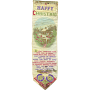 Antique Stevengraph Christmas Bookmark