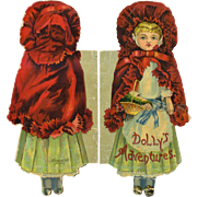 C1895 Dolly's Adventure Shape or Die Cut Children's Book, McLoughlin Bros.