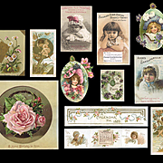 Victorian Cards and Scrap, Children, Flowers    #460