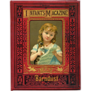 1882 Infant's Magazine Filled with High Quality Engravings, Children, Pets, Scripture , Floral Mats - VERY FINE Condition