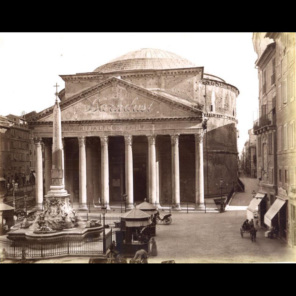 C1890s Original Albumen Photo Pantheon Rome Sold On Ruby