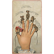 Lady Mouse Fingers Card, Victorian Humor