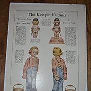 c1913 Kewpie Kutouts, Kewpie Army and Orphan Boy, Uncut Woman's Home Companion Paper Dolls