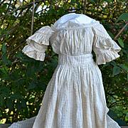 Early Civil War Era Dress for Large Mache, China, Cloth Dolls