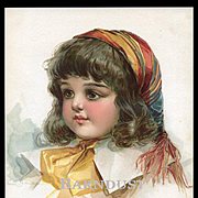 1896 Frances Brundage, Brown Eyed Girl in Pink, Original Print from Belles & Beaux