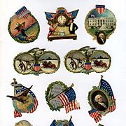 Victorian Patriotic Die Cuts