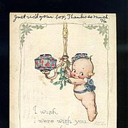 1924 Rose O'Neill Kewpie Christmas Postcard