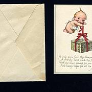 1920s Small Kewpie Gift Card