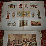 1878-1885 Bound Christmas Numbers Xmas Graphics and Illustrated London News, 250+pgs, 12x16 Book, Color / Engravings