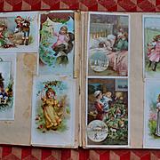 Victorian Scrapbook, Santa Christmas Cards, Brundage, Children