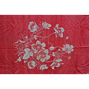 Large Turkey Red Tablecloth #1  Nice Cutter 56 x 72