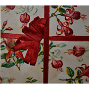 c1910s Eaton's Candy Box Sample Cover, Fuchsia w Red Silk Bow #66