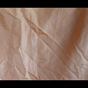 c.1860's Pale Pink Champagne Silk Taffeta Skirt Panel #3, for Doll Costuming