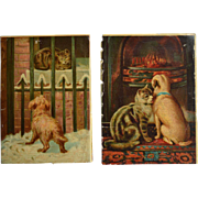 Cat and Dog Early Chromolithographs