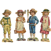 Victorian Children Die Cuts #43