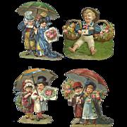 Victorian Die Cuts, Cute Kids in Fancy Clothes  #44