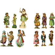 Antique Victorian Children Die Cuts, Miniatures for Ornaments, Vignettes, Doll Houses, #31