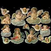 Victorian Angel or Cherub  Die Cuts, 15 Various Sizes #53