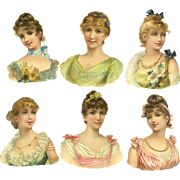 Victorian Die Cuts, Beautiful Ladies in Gowns #66