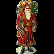 Antique Santa Claus Christmas Die Cut #74