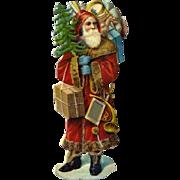 Antique Santa Claus Christmas Die Cut #75