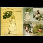 c1886 Book, Under the Mistletoe, Lizzie Lawson & Robert Ellice Mack, Nister Printer