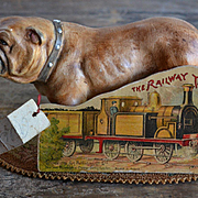 c.1890s The Railway Train, Child's Die Cut Shape Book, Very Scarce, Int'l Art Pub. Co.
