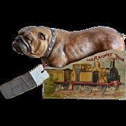 c.1890s The Railway Train, Child's Die Cut Shape Book, Very Scarce, Int'l Art Pub. Co.