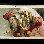 1913 Winsch, Santa Delivers Fresh Apples for Christmas, Postcard #269