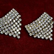 Vintage Rhinestone Shoe Buckles or Clips #1 Musi