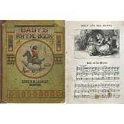 1878 Baby's Rhyme Book, Engravings, Children, Dolls, Music, Silhouettes As Is