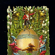 Victorian Easter Die Cut, Dancing Gnomes in Tights, Rabbit Conductor, Pussy Willow