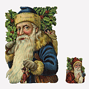 c. 1900 Uncommon Die Cut Santa, Possibly Tuck