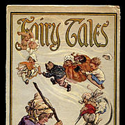 c.1918 Fairy Tales - Cover Only - C.M. Burd Fantasy Art, Witch, Flying Babies, Cat, Rabbit, Pumpkin