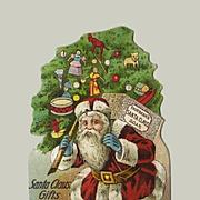 Santa Claus Soap Die Cut, Victorian Trade Card (A)